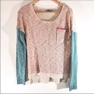 Nectar clothing color block knit sweater size S